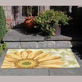 Sunflower Illusions Rectangle Mat Yellow 49 x 29