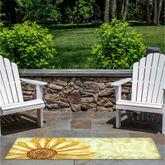 Sunflower Illusions Rectangle Mat Yellow 59 x 23