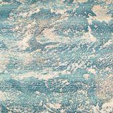 Stormy Sea Rug Runner Teal 111 x 76