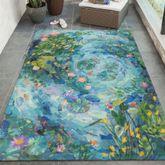 Peaceful Pond Rectangle Rug Seafoam