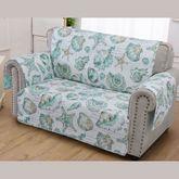 Cruz Furniture Cover Turquoise Loveseat