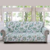 Cruz Furniture Cover Turquoise Sofa