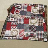 Tis the Season Throw Blanket Multi Warm 50 x 60