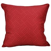 Tis the Season Piped Pillow Red 18 Square