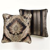 Fenmore Piped Pillow Black 20 Square