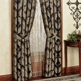 Fenmore Wide Tailored Curtain Pair Black