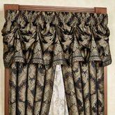 Fenmore Tuck Valance Black 90 x 20