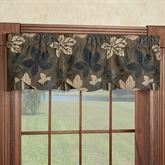 Maple Leaf Sable Brown Petticoat Valance 52 x 15