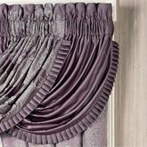 Ambience Solid Waterfall Valance Wisteria 42 x 33