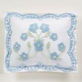 Cottage Bloom Tailored Sham Blue Standard