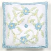 Cottage Bloom Tufted Pillow Blue 18 Square