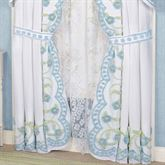 Cottage Bloom Tailored Curtain Pair Blue 84 x 84