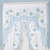 Cottage Bloom Swag Valance Blue 60 x 40