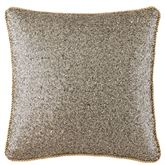 Vaughn Sequin Corded Pillow Gold 14 Square