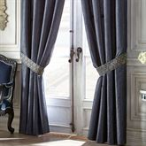 Vaughn Wide Tailored Curtain Pair Navy 100 x 84