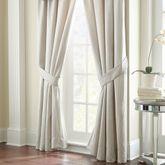 Jonet Wide Tailored Curtain Pair Ivory 100 x 84