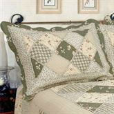 Country Charm Quilted Sham Sage Standard