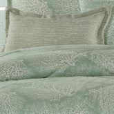 Antigua Flanged Pillow Aqua Mist Rectangle