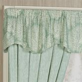 Antigua Shaped Valance Aqua Mist