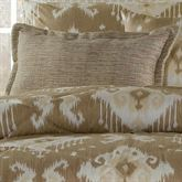 Alameda Flanged Pillow Tan Rectangle