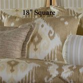Alameda Tailored Pillow Tan 18 Square