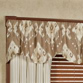 Alameda Shaped Valance Tan 52 x 17
