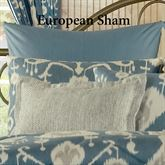 Copenhagen Striped Tailored Sham Dark Blue European