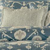 Copenhagen Woven Tailored Pillow Dark Blue Rectangle