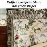 Garden Images III Ruffled European Sham Parchment