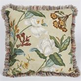 Garden Images III Fringed Square Pillow Parchment 20 Square