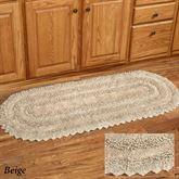 Elegant Lace Oval Rug Runner 2 x 5 Oval