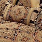 Ravel Tasseled Corded Pillow Multi Warm Rectangle