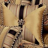 Ravel Tufted Pillow Multi Warm 18 Square
