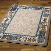 Sea Life Area Rug Blue