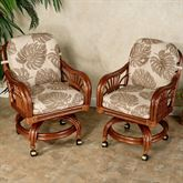 Leikela Dining Chairs with Casters Chair Pair