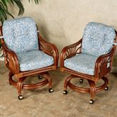 Leikela Dining Chairs with Casters Malibu Seaside Chair Pair