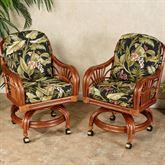 Leikela Dining Chairs with Casters Wailea Coast Chair Pair