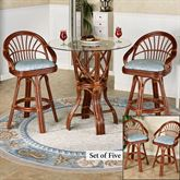 Leikela Counter Table with Four Stools Malibu Seaside Set of Five