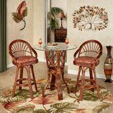 Leikela Counter Table with Two Stools Papaya Medley Set of Three