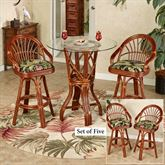 Leikela Bar Table with Four Stools Wailea Coast Set of Five