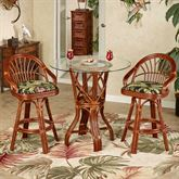 Leikela Counter Table with Two Stools Wailea Coast Set of Three
