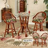 Leikela Counter Table with Four Stools Wailea Coast Set of Five