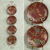 Fruits of the Season Plate Set  Set of Four