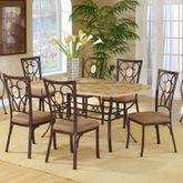 Eastbrook Dining Set of 7 Bronze Set of Seven
