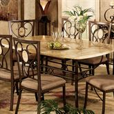 Easbrook Rectangle Table Only Bronze