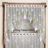 Vineyard Grape Lace Swag Valance Pair 66 x 36