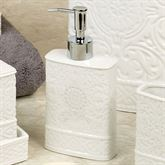 Damask Lotion Soap Dispenser Ivory