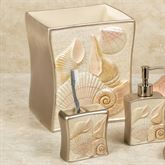 Sea Shell Wastebasket Champagne