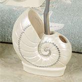 Sequin Shells Toothbrush Holder Light Cream