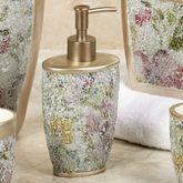 Watercolor Floral Lotion Soap Dispenser Champagne